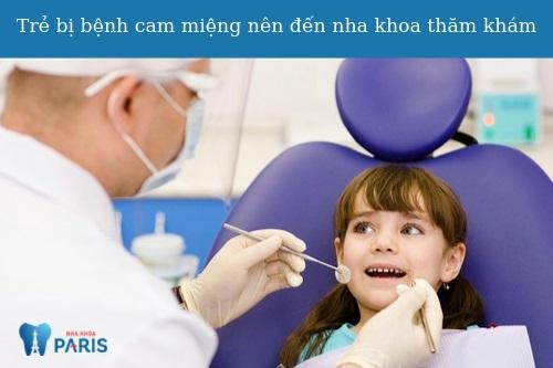 Bệnh cam miệng ở trẻ phải làm sao