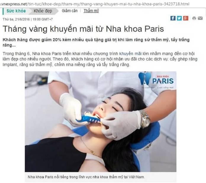 Review > Đánh giá khách hàng thực tế về nha khoa Paris tại TPHCM 1