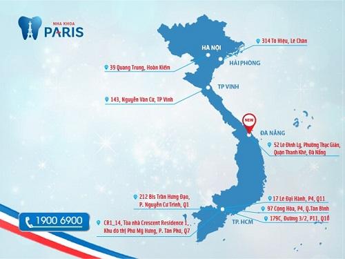 Chuỗi cơ sở nha khoa Paris tiêu chuẩn quốc tế tại Việt Nam