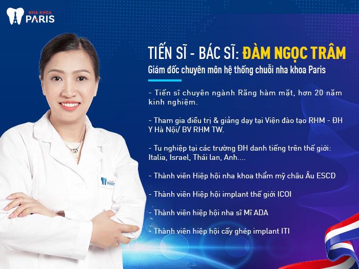 Cố vấn chuyên môn tại nha khoa Paris Tân Bình - TS BS Đàm Ngọc Trâm