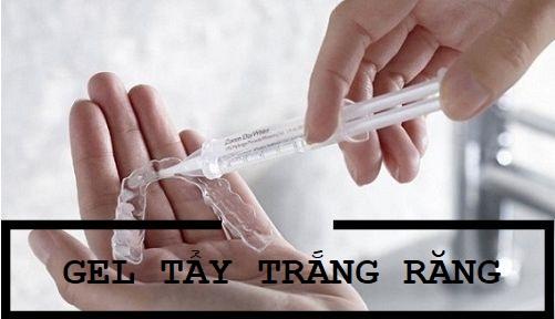 Thuốc tẩy trắng răng dạng gel thường được kết hợp với máng tẩy