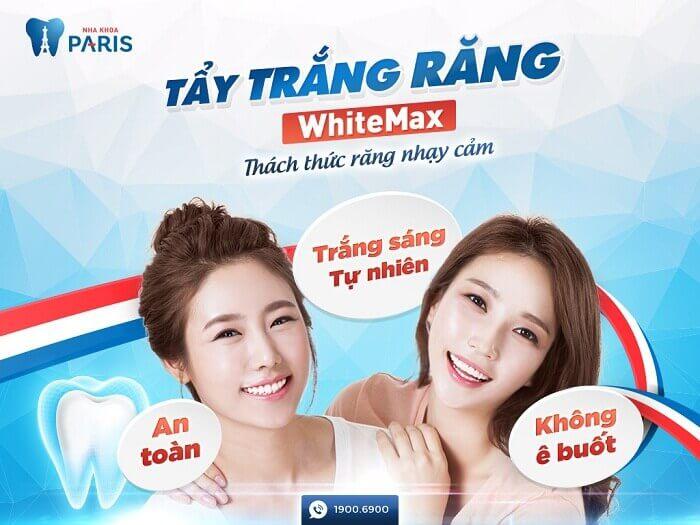 Với công nghệ WhiteMax bạn sẽ không phải lo Tẩy trắng răng có hại gì không
