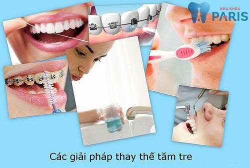 Cách làm sạch răng bằng tăm tre 3