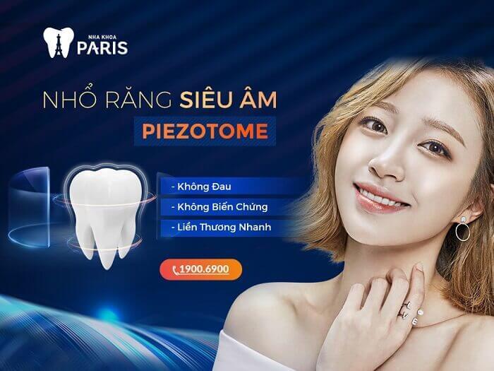 Công nghệ nhổ răng khôn siêu âm Piezotome tại Nha khoa Paris
