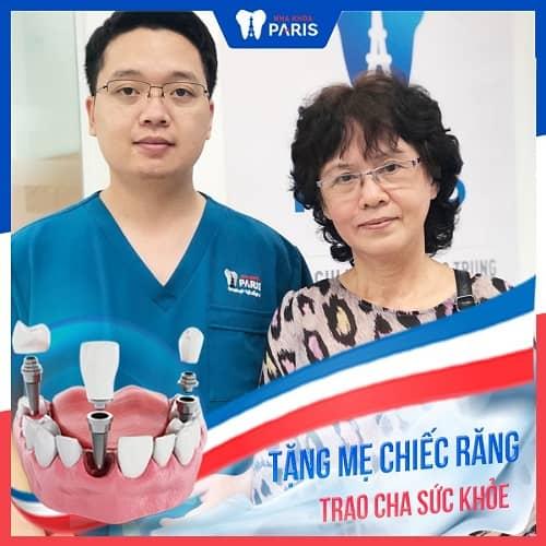 khách hàng chọn implant thay cho cầu răng