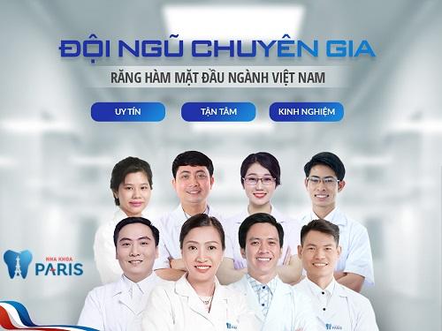 đội ngũ bác sĩ nha khoa Paris