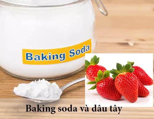 Cách tẩy trắng răng bằng baking soda với dâu tây khá đơn giản