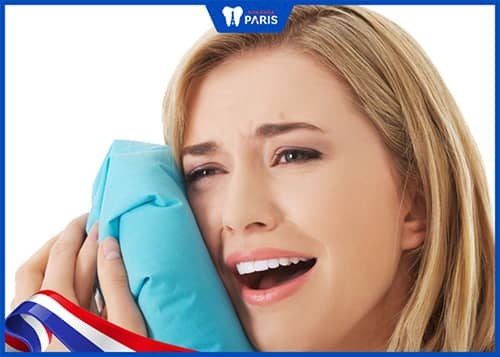 Chườm đá lạnh giảm đau răng khi niềng