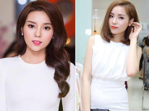 Thay đổi một chút kiểu tóc giúp hoa hậu Kỳ Duyên trẻ trung, xinh đẹp hơn.