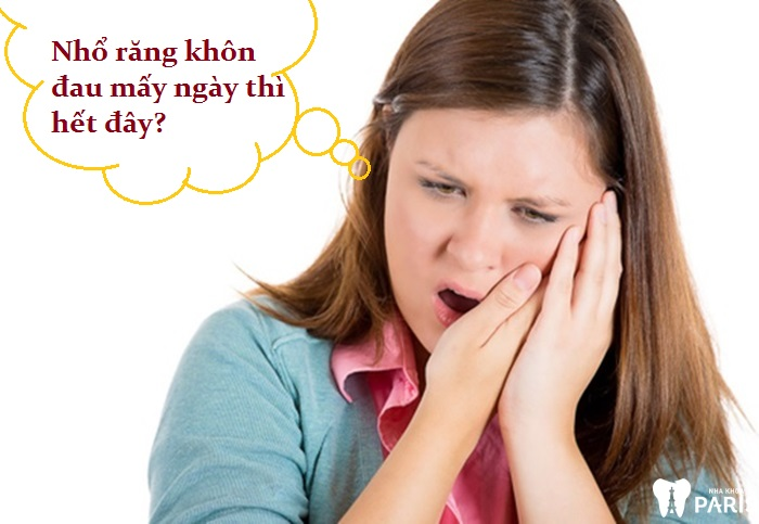 Nhổ răng khôn đau mấy ngày thì hết?