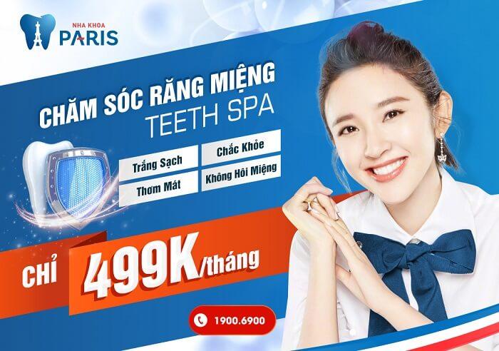 Teeth Spa - 1 trong những dịch vụ chăm sóc răng miệng nổi bật tại Nha khoa Paris