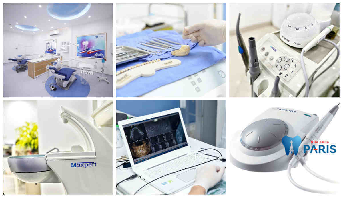 Hệ thống máy móc hiện đại phục vụ cho dịch vụ thẩm mỹ răng - một thế mạnh của Nha khoa Paris