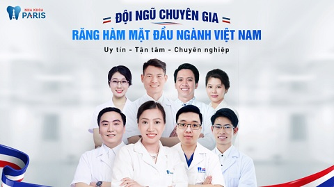 Đội ngũ bác sĩ hàng đầu tại nha khoa Paris.