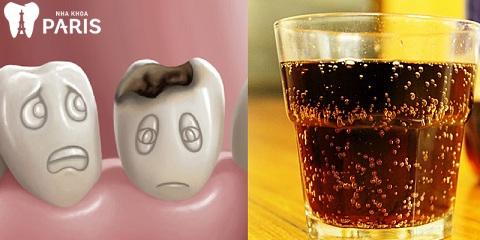 làm răng xong có được uống nước có ga không