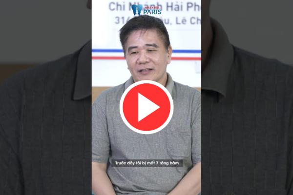 Chú Quang Biên chia sẻ cảm nhận sau khi trồng răng Implant
