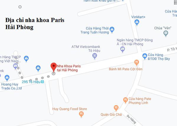 Địa chỉ nha khoa Paris Hải Phòng trên bản đồ