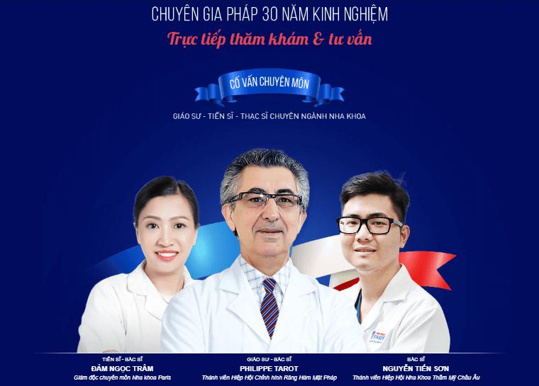 Đội ngũ y bác sĩ chuyên môn cao - nha khoa Paris