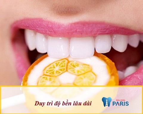 Răng toàn sứ duy trì độ bền lâu dài