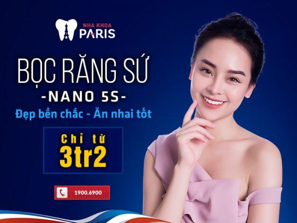 Nano 5S cho hiệu quả phục hình răng sứ cao nhất