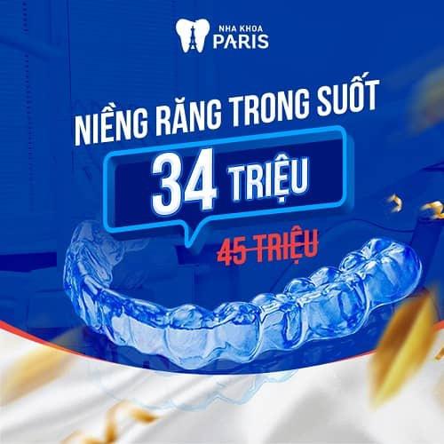 niềng răng khi mang bầu nên chọn khí cụ niềng trong suốt