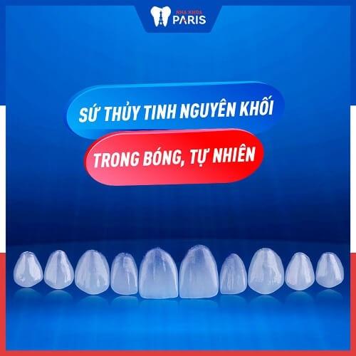 răng sứ màu trắng trong
