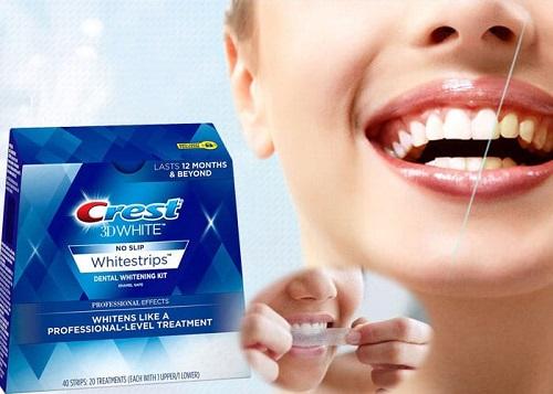 miếng dán trắng răng crest review