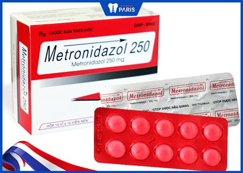 Thuốc kháng sinh chữa tụt lợi Metronidazol