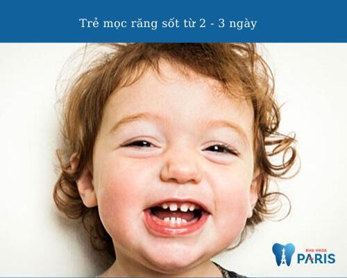 Trẻ mọc răng sốt bao lâu thì hết?