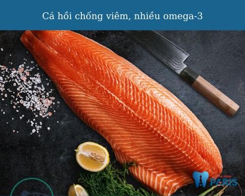 Viêm lợi nên ăn gì? Cá hồi