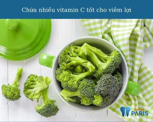Viêm lợi nên ăn gì? Bông cải xanh