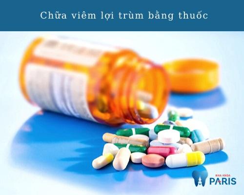 Viêm lợi trùmrăng khôn uống thuốc gì?