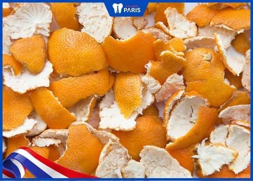 chữa vôi răng đen bằng vỏ cam