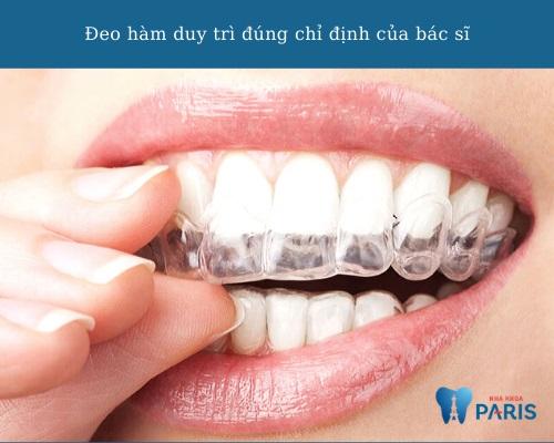 Cách khắc phục & hạn chế răng chạy khi niềng