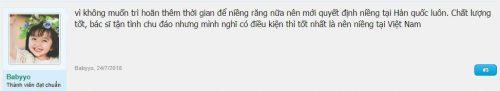 Cảm nhận của thành viên Babyyo về vấn đề niềng răng tại hàn quốc