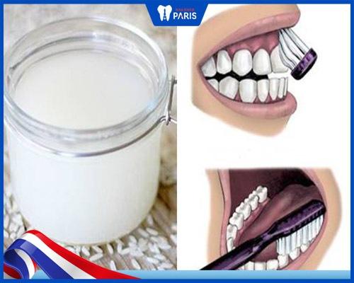 cách làm trắng răng bằng nước vo gạo hiệu quả