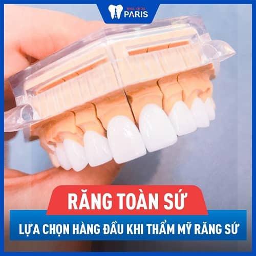 bọc răng cửa nên chọn răng toàn sứ