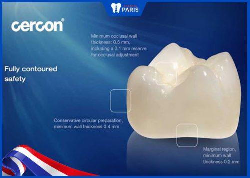 Răng sứ Cercon của đức