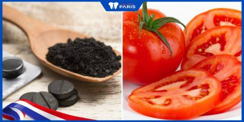 Tẩy trắng răng bằng cà chua và than hoạt tính