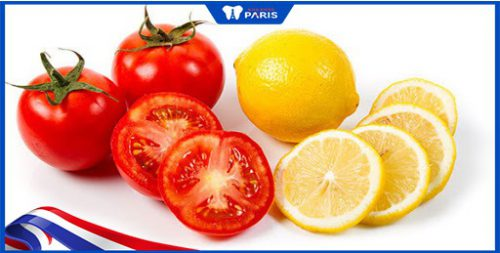 Cách làm trắng răng bằng cà chua và chanh