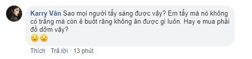 Băn khoăn về quá trình tẩy trắng của thành viên Karry Vân