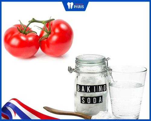 Tẩy trắng răng bằng cà chua và baking soda