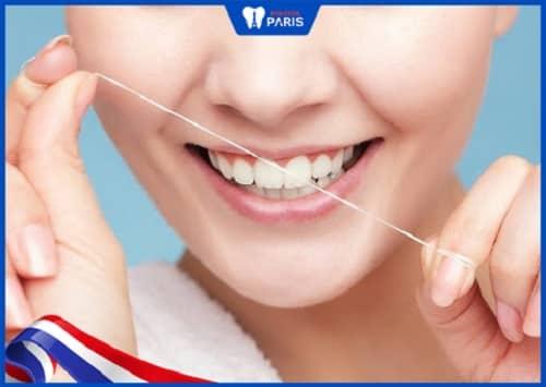 dùng chỉ nha khoa chữa giắt răng