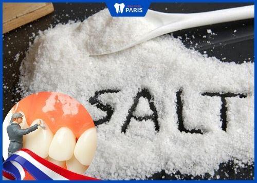 cách lấy cao răng bằng muối