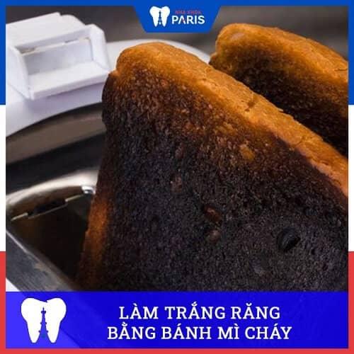 cách làm trắng răng trong 1 tuần với bánh mỳ cháy
