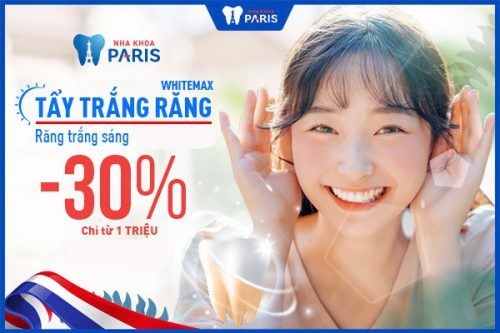 Tẩy trắng răng giá rẻ tại nha khoa Paris