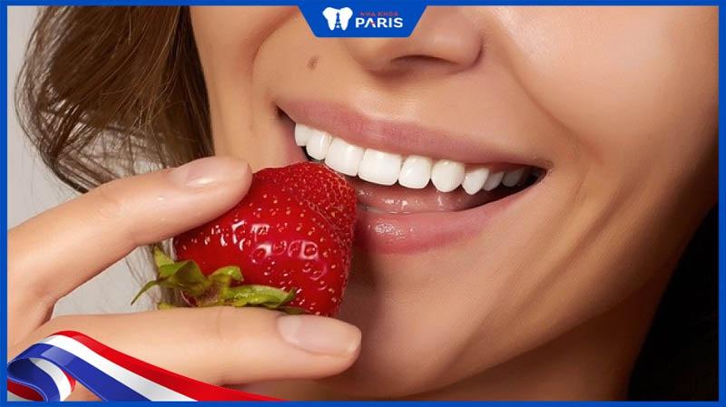 ăn gì trắng răng