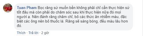 Tuan Pham chia sẻ cách chăm sóc răng miệng sau khi làm sứ