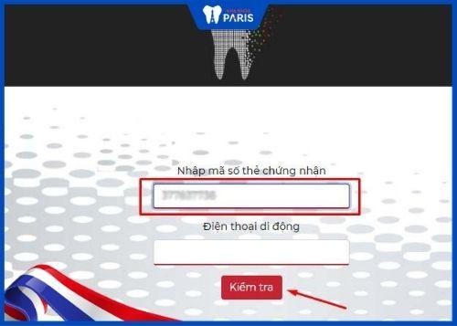 cách tra cứu thẻ bảo hành răng sứ