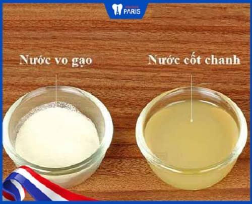 Dùng nước vao gạo và chanh để chữa hôi miệng