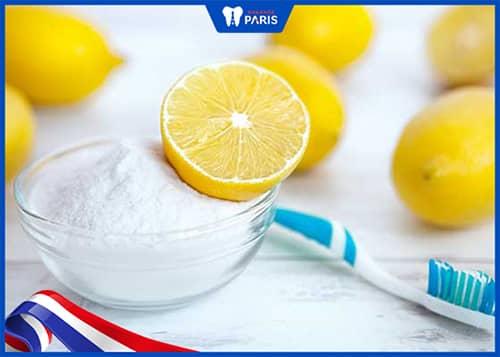 Sử dụng chanh tươi với bột nở